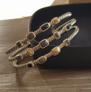 David Yurman Three Row Confetti Bracelet